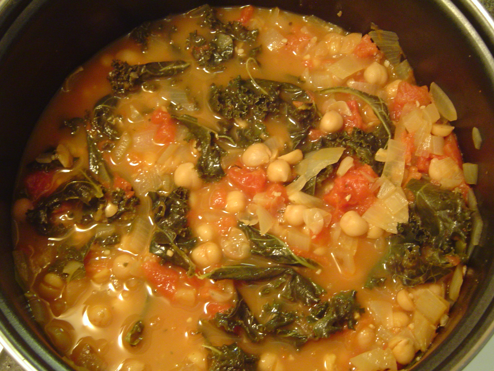 Kale and Chickpea Soup - Eat Better to Live Better